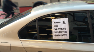 Uber Drivers Protest San Francisco Plan to dshut down Super Bowl 50