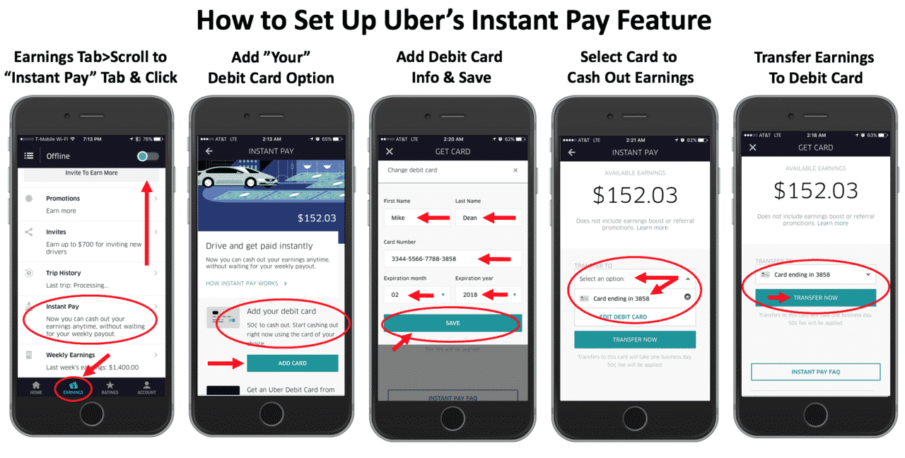 Instant Pay for Uber drivers Get paid every day
