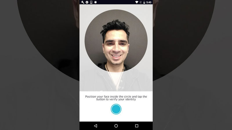 Uber's Real Time-ID Check Selfie