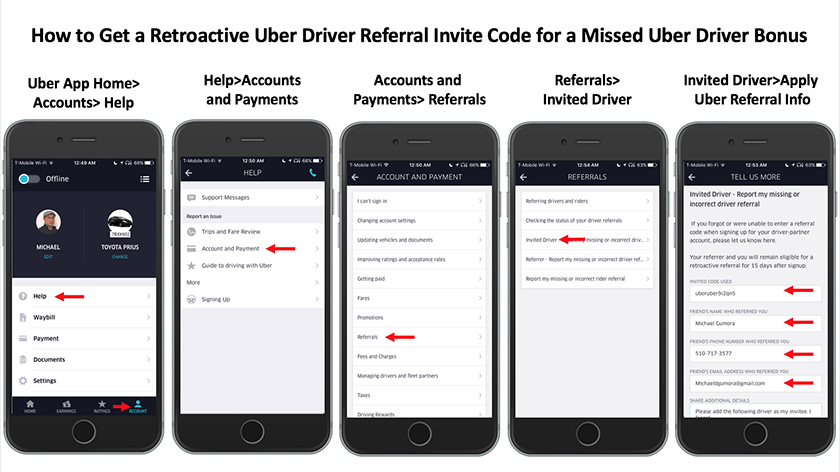 How to use uber delivery driver app