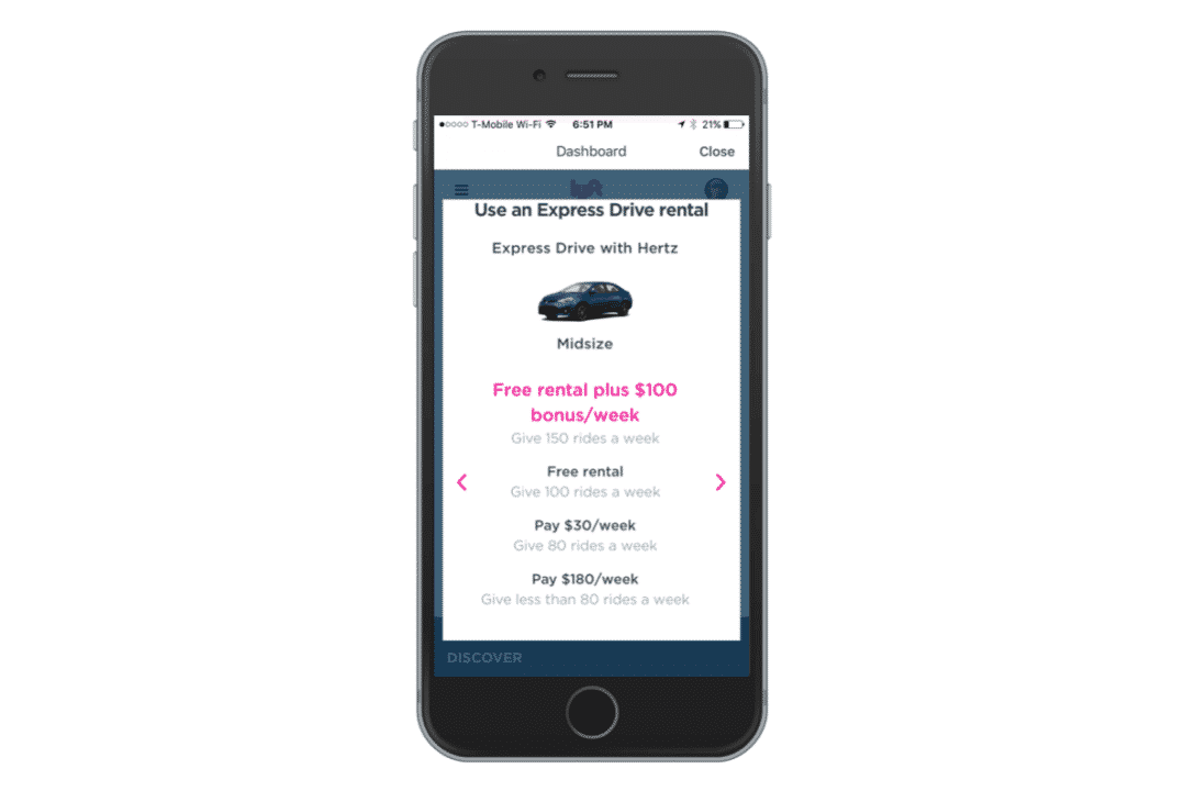 Lyft Driver Rental Car Requirements