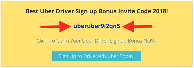 Uber driver sign up bonus promo code invite code