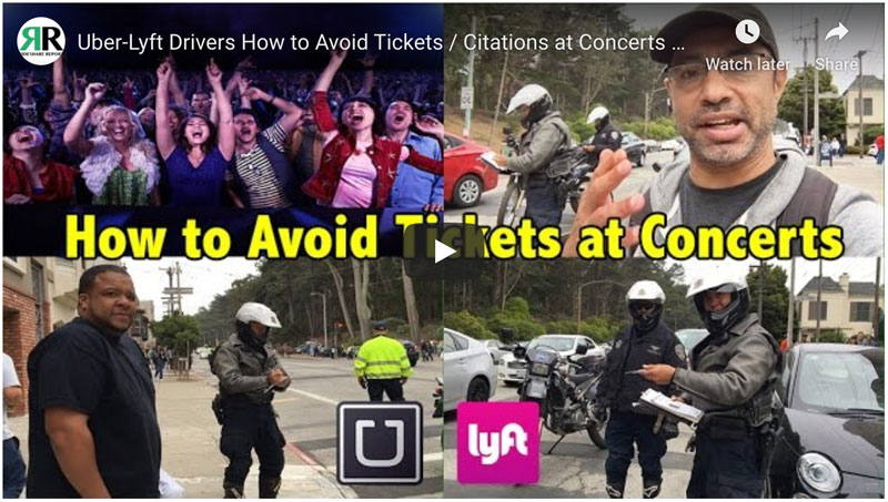 Uber driver tickets and citations
